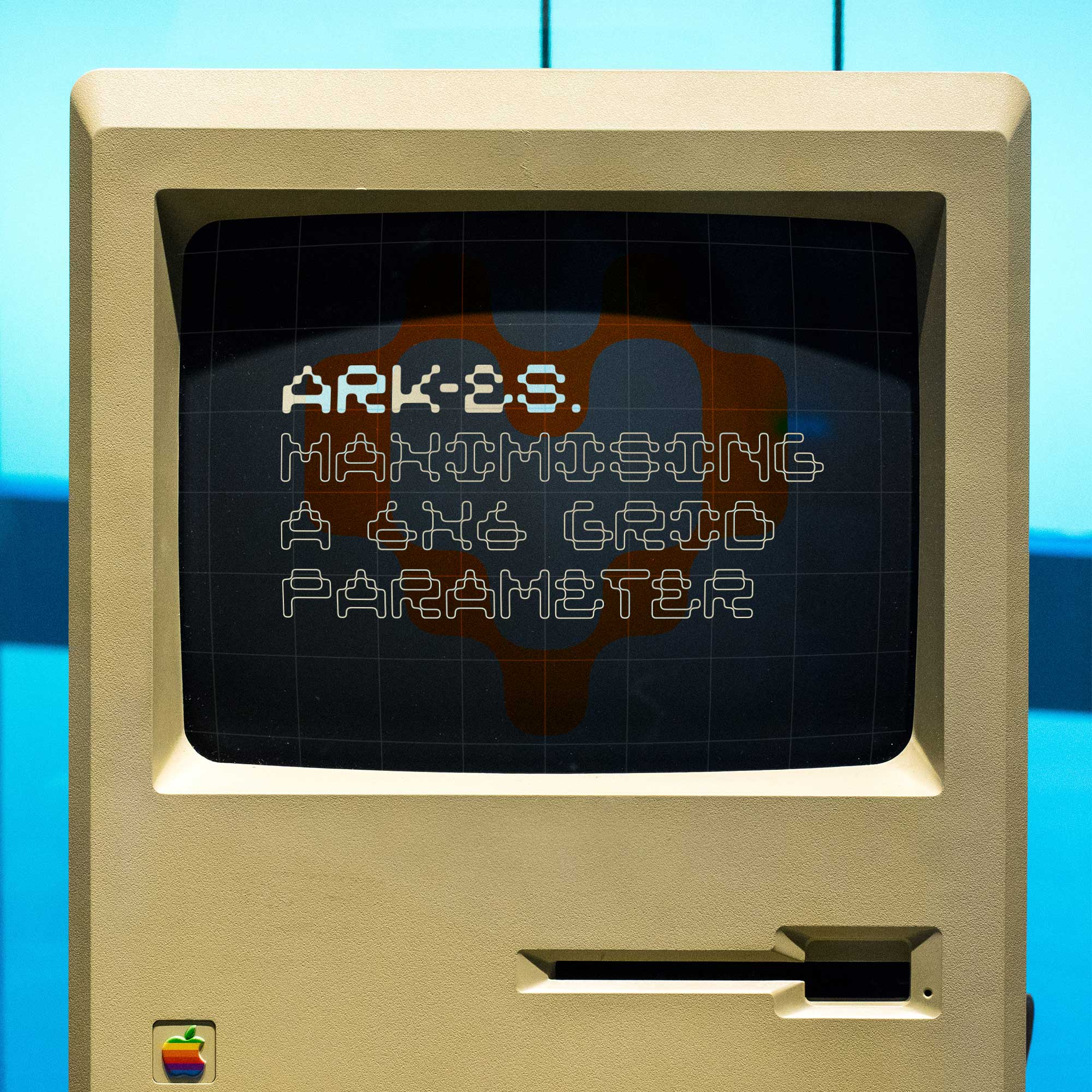 ARK-ES Typeface by Stuedio – 1980s Macintosh, computer graphics